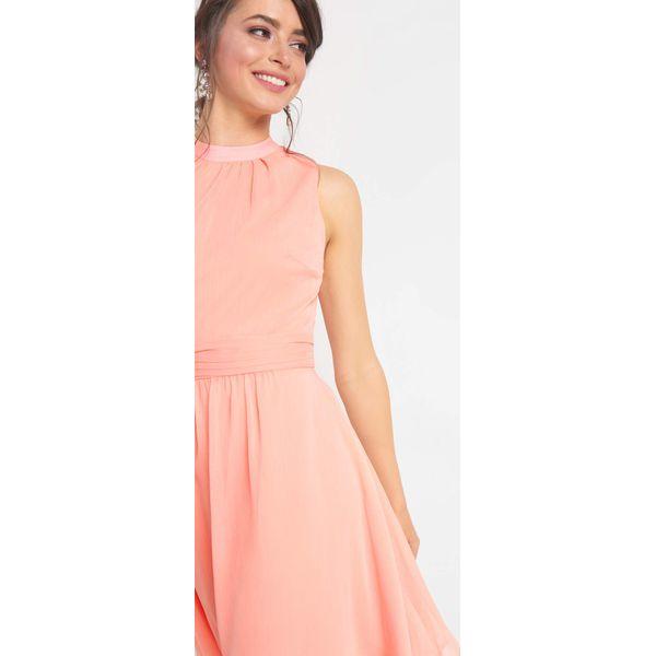 d4cd057534 Rozkloszowana sukienka - Brązowe sukienki marki Orsay