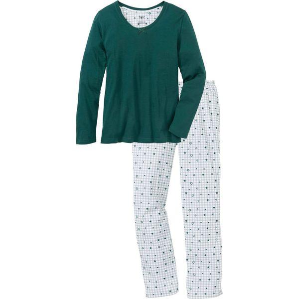 1eb9ead80a1b34 Piżama bonprix głęboki zielony w kratę - Piżamy bonprix. Za 54.99 zł ...