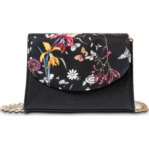 41c2be785010c Torebka na ramię w kwiaty bonprix czarny - Czarne torebki klasyczne ...