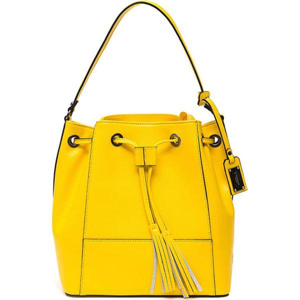 0d08617f18309 Skórzana torebka w kolorze żółtym - (S)28 x (W)31 x (G)16 cm - Żółte ...