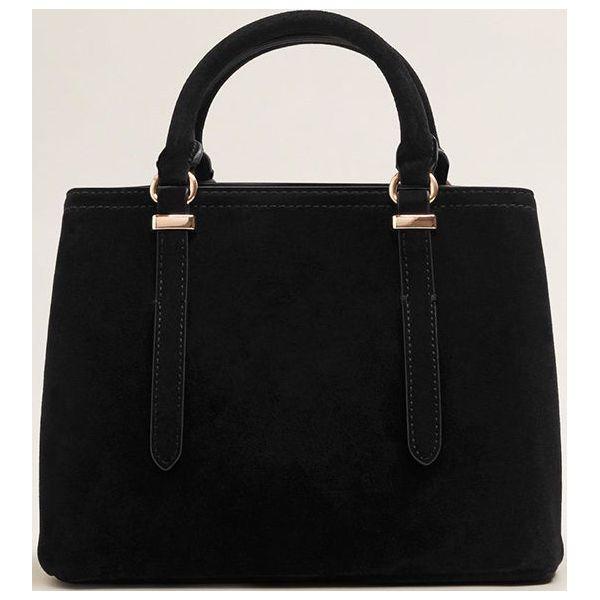 925e8557e8f8a Mango - Torebka Rita - Czarne torby na ramię marki Mango, w paski, z ...