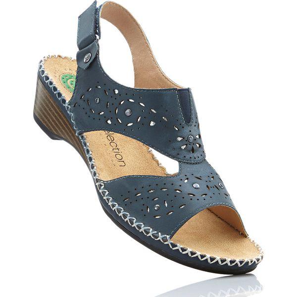 0963e81d Wygodne sandały skórzane bonprix ciemnoniebieski - Sandały bonprix ...