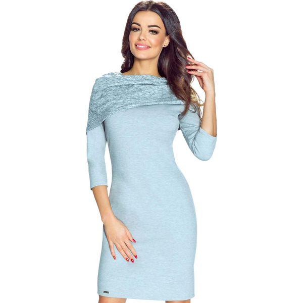 44235fee45 Szara Sukienka Bodycon z Szerokim Golfem - Szare sukienki marki ...