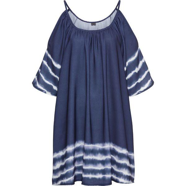 c49f8a46 Sukienka z batikowym nadrukiem bonprix niebieski