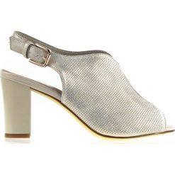 bf8c7d7b23fca4 Połyskujące damskie beżowe sandały na obcasie Sergio Leone (38). Brązowe  sandały Sergio Leone