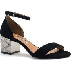 caa3b8450df27 Czarne zamszowe sandały na srebrnym obcasie 23B. Sandały marki Neścior. W  wyprzedaży za 329.00