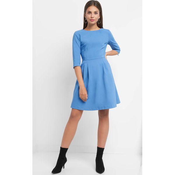 b1cc8fa2ee Rozkloszowana sukienka - Niebieskie sukienki marki Orsay