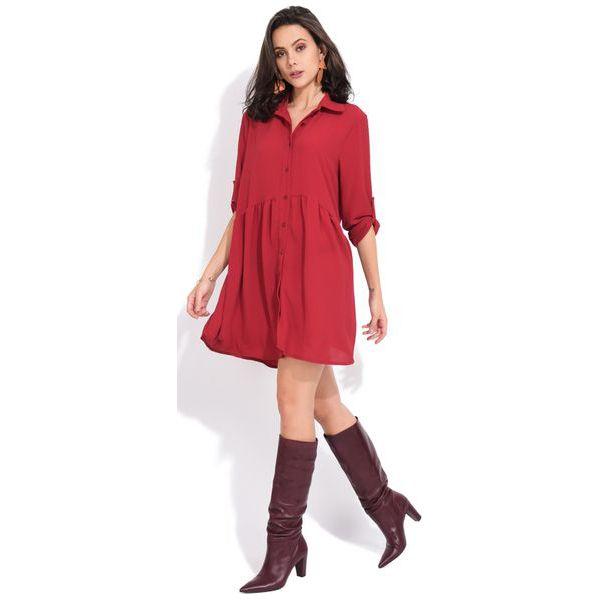 7203485a6f Fille Du Couturier Sukienka Damska Oriane 40 Czerwony - Sukienki ...