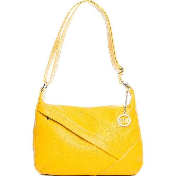 cee8d14ebb9aa Skórzana torebka w kolorze żółtym - 29 x 24 x 10 cm - Żółte torby na ...