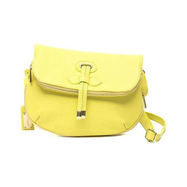 4c005a472853b Skórzana torebka w kolorze żółtym - (S)20 x (W)25 cm - Żółte torebki ...