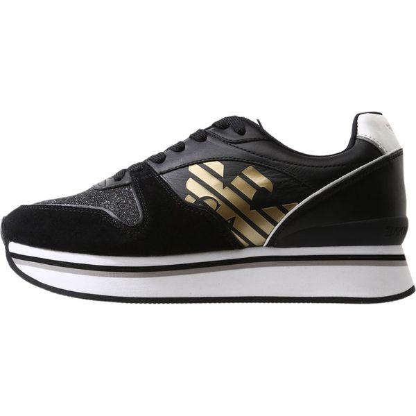 b948a648a425f Emporio Armani CHRISTINA Sneakersy niskie black/white/silver ...