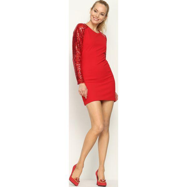8724d4fc2c Czerwona Sukienka Silver Star - Czerwone sukienki marki Born2be