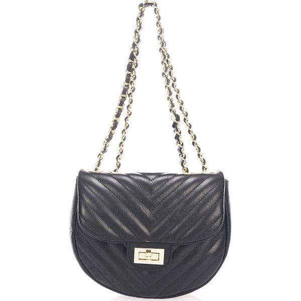 8b5c6d00e2bbf Skórzana torebka w kolorze czarnym - 23 x 20 x 8 cm - Czarne torebki ...