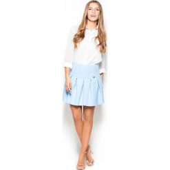 91c0d52fb2 Elegancka Błękitna Spódnica na Karczku z Plisami. Spódnice marki Molly.pl.  Za 109.90