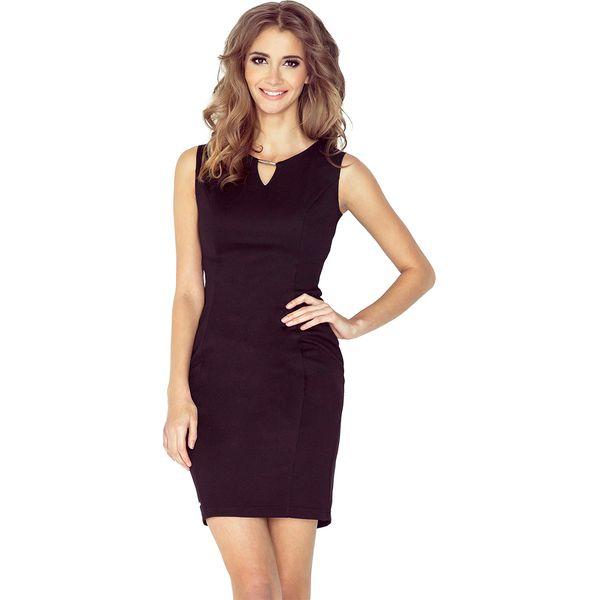 ab8d6f8b07 Czarna Ołówkowa Mini Sukienka z Klamerką - Czarne sukienki marki ...