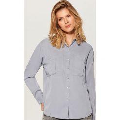 e93e879e49b409 Koszula z lyocellu - Niebieski. Niebieskie koszule Mohito, bez wzorów, z  lyocellu,