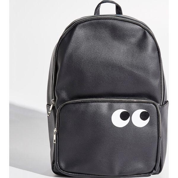 9289458f9c6c6 Plecak z zabawnym nadrukiem - Czarny - Czarne plecaki marki Sinsay ...