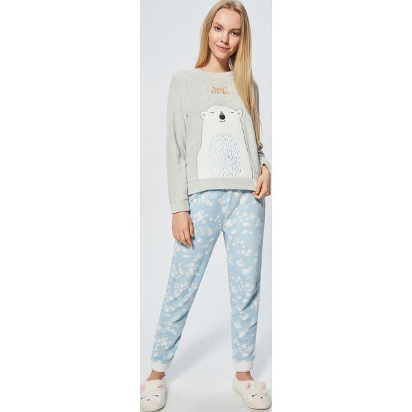 09eb73846544e7 Ciepła piżama - Jasny szary - Piżamy marki Cropp. W wyprzedaży za ...