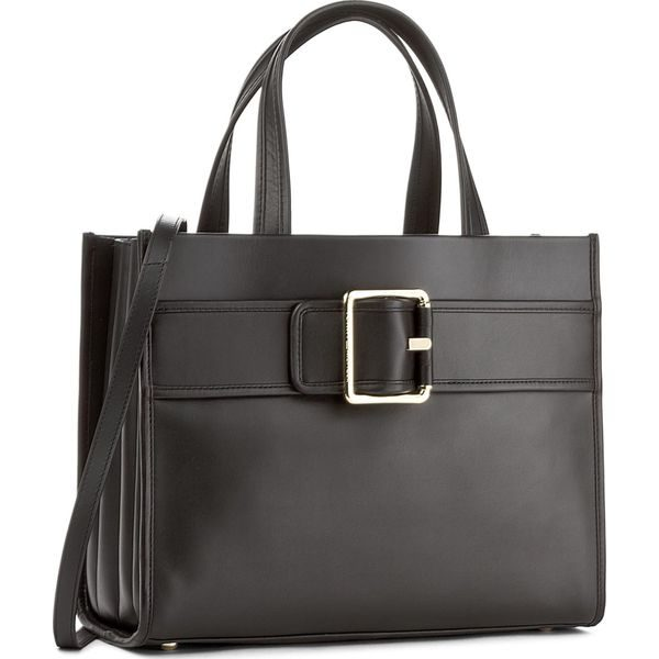 558663d419de8 Torebka TOMMY HILFIGER - Tommy Buckle Leather Tote AW0AW04862 002 ...