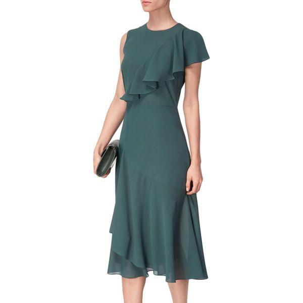 84bfed8d07 Sukienka w kolorze zielonym - Zielone sukienki marki BOHOBOCO