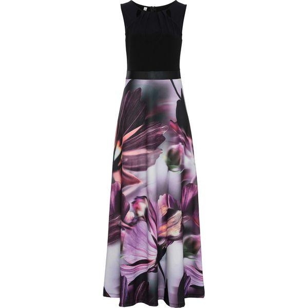 2f02f91f85 Sukienka w kwiaty bonprix czarno-lila w kwiaty - Sukienki marki ...