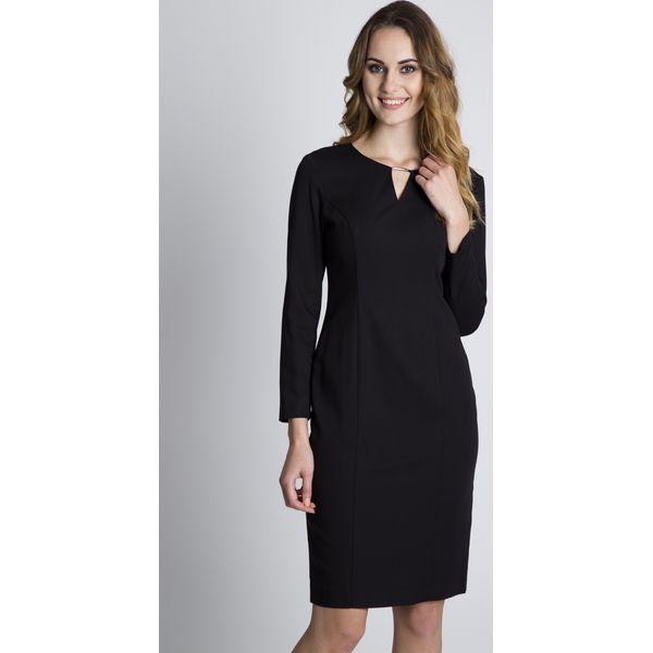 eb7872ac34 Czarna dopasowana sukienka z długim rękawem BIALCON - Czarne ...