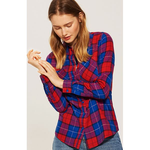 1e86807e16 Koszula w kratę - Niebieski - Koszule marki House. W wyprzedaży za ...
