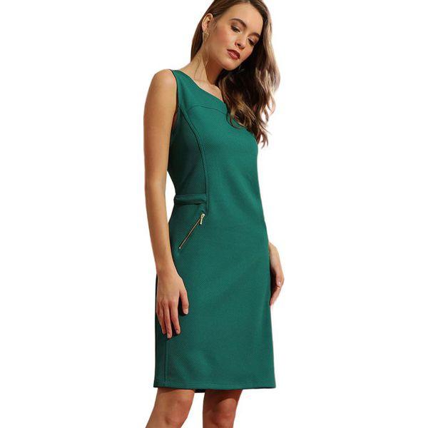 beb4868dac Sukienka w kolorze ciemnozielonym - Zielone sukienki marki ...