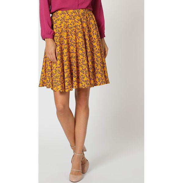 1578075e6e Spódnica w kolorze żółtym ze wzorem - Żółte spódnice marki ...