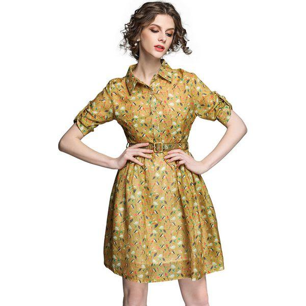 56f19b4c67 Sukienka w kolorze żółtym - Żółte sukienki marki Kaimilan