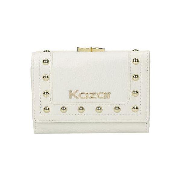 075a1ce708112 Skórzany portfel w kolorze białym - (S)12 x (W)9 cm - Białe portfele ...