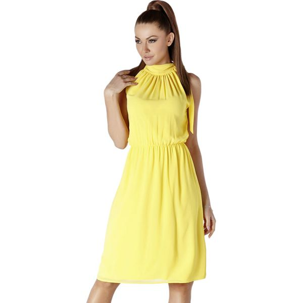 f5199ebdf3 Sukienka w kolorze żółtym - Żółte sukienki marki Ryłko by Agnes ...