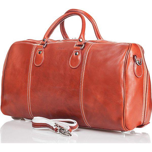 2b09d2e74433c Skórzana torba w kolorze pomarańczowym - 28 x 45 x 20 cm - Brązowe ...