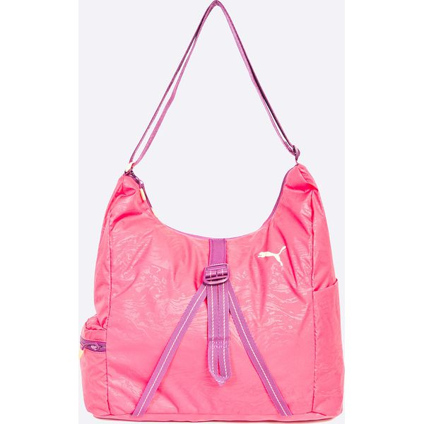55dc45a764261 Puma - Torebka - Różowe torby na ramię marki Puma, w paski, z ...