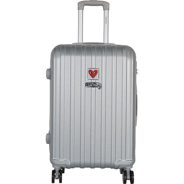 2c2c5b56faf6d Walizka w kolorze srebrnym - 71 l - Szare walizki marki Lulu ...