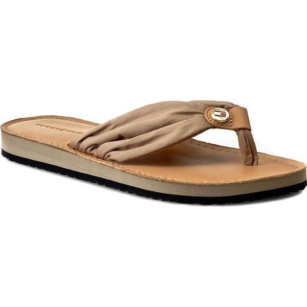 49a9b24a8b0dd Japonki TOMMY HILFIGER – Leather Footbed Beach Sandal FW0FW00475  Cobblestone 068
