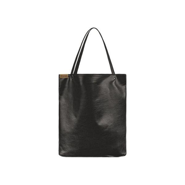 65abd1af Shopper bag XL czarna klasyczna torba na zamek Vegan