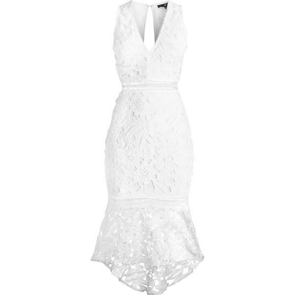 0f17d225 Missguided FISHTAIL MIDI DRESS Sukienka etui white