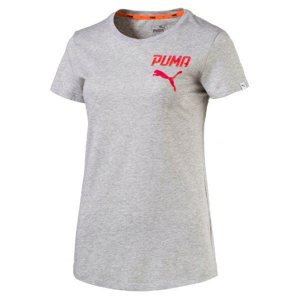 aac8141ac Puma Koszulka Athletic Tee W Light Gray Heather S - Brązowe koszulki ...