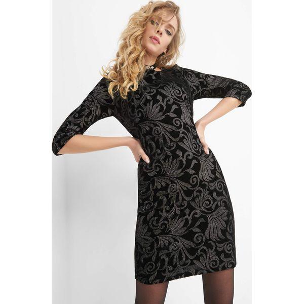 9139a3cfc10433 Welurowa sukienka z haftem - Sukienki Orsay. Za 159.99 zł ...