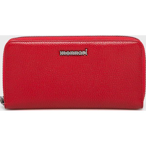 edff6c4691ede Monnari - Portfel skórzany - Czerwone portfele marki Monnari
