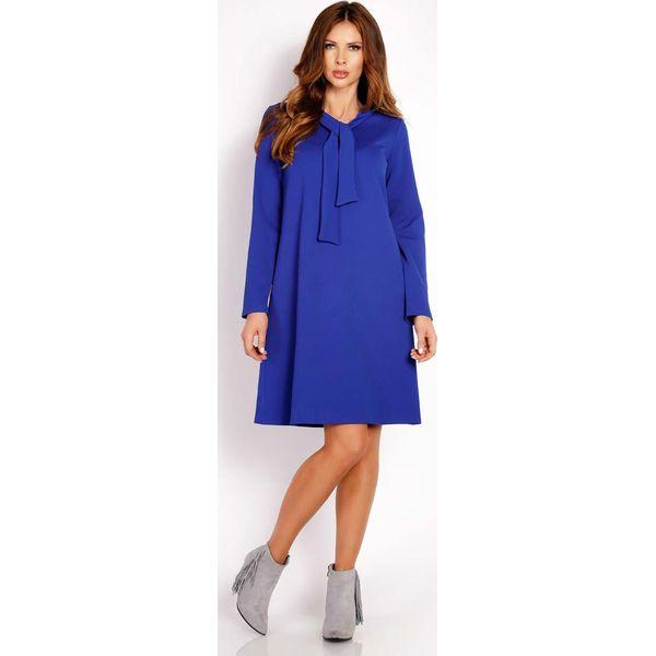 9961c5f121 Niebieska Sukienka Trapezowa z Krawatką - Sukienki marki Molly.pl ...