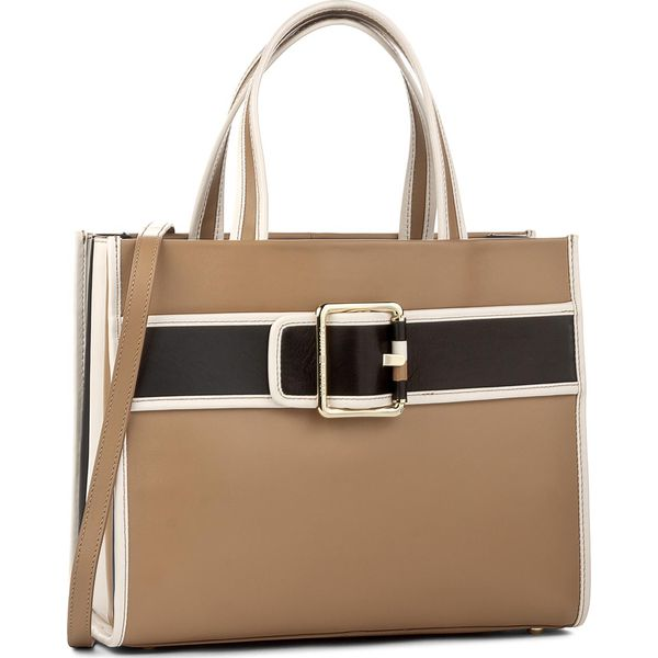 3dc936d8e0f54 Torebka TOMMY HILFIGER - Tommy Buckle Leather Tote AW0AW04862 902 ...