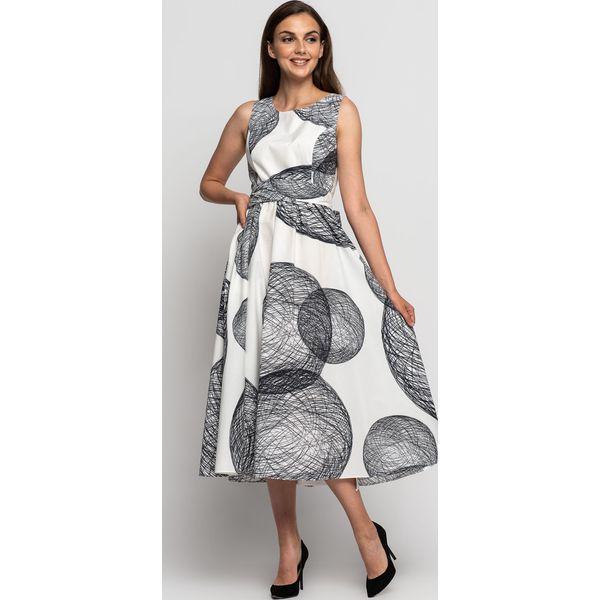 ca5e2383 Bawełniana asymetryczna sukienka bez rękawów BIALCON