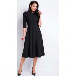 9d91f6c4a87f Czarna Sukienka Wizytowa Midi z Szerokim Dołem. Sukienki marki Molly.pl. Za  129.90