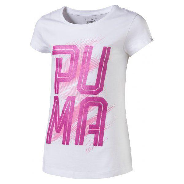 9021e5d09ce2e Puma Koszulka Font Tee Girls Puma White 140 - Koszulki sportowe . W ...