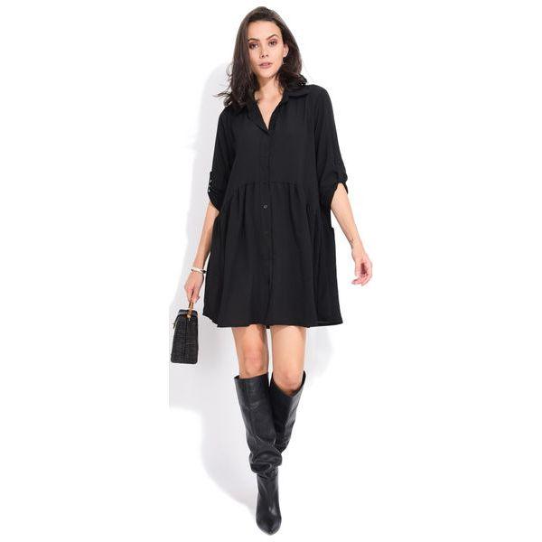 3e5dc06d89 Fille Du Couturier Sukienka Damska Oriane 40 Czarny - Sukienki marki ...