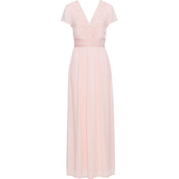 5743a04835 Długa sukienka z koronką bonprix bladoróżowy - Sukienki marki ...