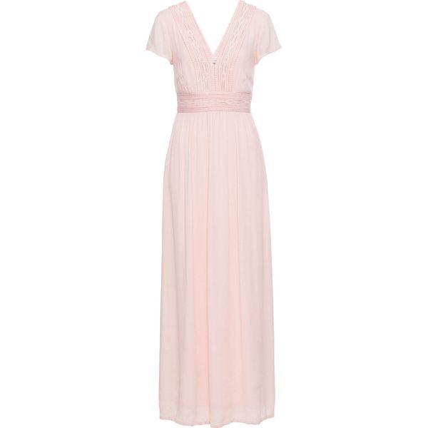 a3cfc2addd Długa sukienka z koronką bonprix bladoróżowy - Sukienki marki ...