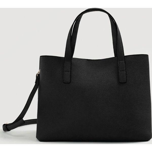 7185ff203a0a9 Mango - Torebka Sil - Czarne torby na ramię marki Mango, w paski, z ...